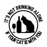 It's not drinking alone if your cat's with you. mug 11oz.-Drinkware-Unlawful Threads