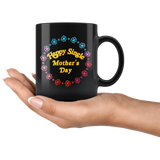Happy Single Mother's Day mug black 11oz. xoxox