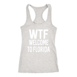 WTF Welcome To Florida Simple shirt m/w/tank-T-shirt-Unlawful Threads