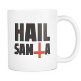 Hail Santa coffee mug white 11 oz. - Unlawful Threads