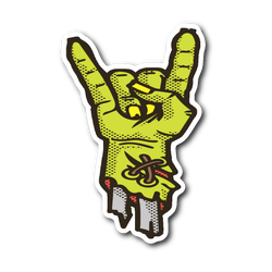Zombie Rock On sticker 3x4