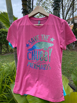Save the Chubby Mermaids women's shirt up to 3x