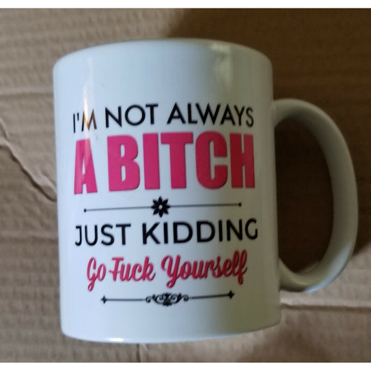 Just Kidding coffee mug white 11 oz.-Drinkware-Unlawful Threads
