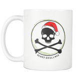 Merry Skullmas III Christmas and Crossbones mug 11 oz.-Drinkware-Unlawful Threads