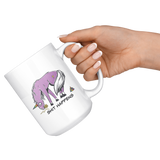 Sh*t Happens Unicorn style 15 oz. mug