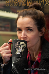 But First Coffee  Skull coffee mug 15 ounces