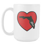 Love Florida Home. mug 15 oz. choice of blue/red black/red-Drinkware-Unlawful Threads