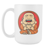 Unlawful Buddha Happy Buddha coffee mug 15oz.-Drinkware-Unlawful Threads