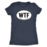 WTF [front] & FLA [back] double sided shirt for all true Floridians xoxo [double sided]