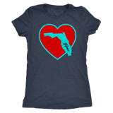 Home Love Florida BLUE design shirt M/F tank/shirt soft (next level)-T-shirt-Unlawful Threads