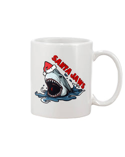 Santa Jaws mug, or shirt, or tote bag