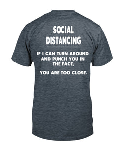 Social Distancing  Guidelines shirt Gildan Cotton T-Shirt