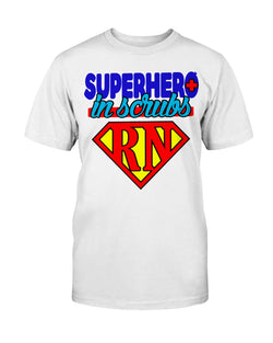 Superhero in Scrubs rn Gildan Cotton T-Shirt