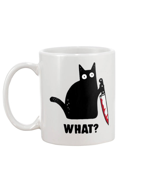 Funny coffee mug Black Cat Knife What? 15 oz. coffee mug