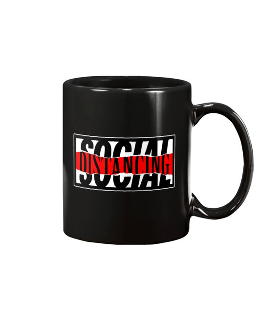 Social Distancing w a little distortion coffee 15oz Mug