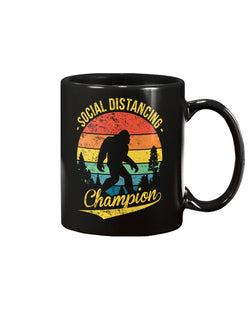 Bigfoot Social Distancing Champion sunset vintage circle  coffee 15oz Mug