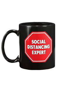 Social Distancing Expert Stop coffee mug 15 oz.