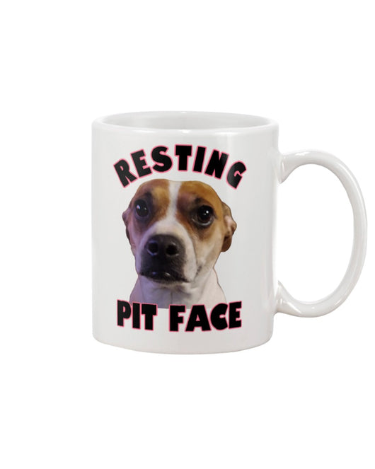 custom dog coffe mug pitbull Resting Pit Face custom dog coffee mug 15oz Mug