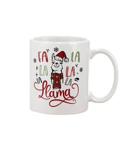 Fa la la la La la la Llama --15 oz mug and shirts