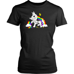 Unicorn Rainbow Death women's shirt - Unlawful Threads
