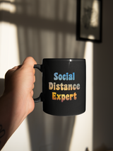 Social Distancing Expert coffee mug 15 oz.