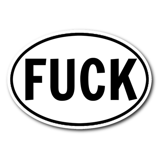 FUCK sticker 3x4