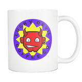 Lucky Devil Coffee Co. mug 11oz. white-Drinkware-Unlawful Threads