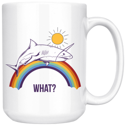 Shark+ Unicorn = Sharkicorn aka how I feel in the morning mug 15oz.