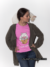 Cat Mom Gildan Ultra Ladies T-Shirt