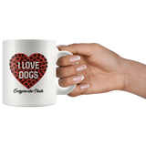 I love dogs, everyone else I hate 11 oz mug