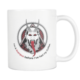 I'm A Krampus before I've had my Coffee coffee mug 11 oz. white-Drinkware-Unlawful Threads