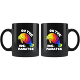 Oh the Hue manatee black mug 11 oz.
