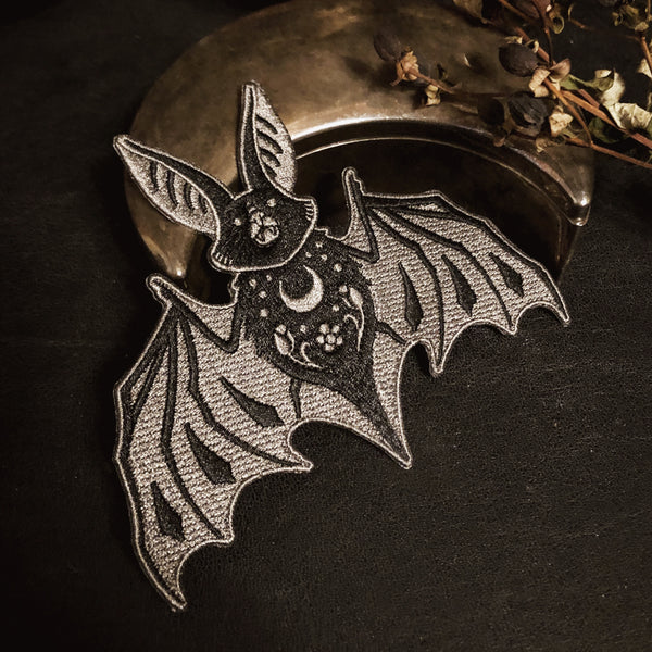 Bat Embroidered Patch - wholesale
