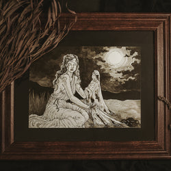 Ancient Tales Original Illustration - Framed