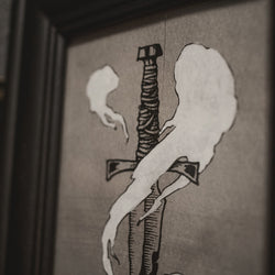 Conjuring the Dead - Dagger - Original Illustration - Framed
