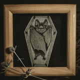 Coffin Original Illustration - Framed