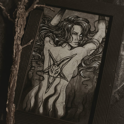Inked and Pierced Original Illustration - Framed