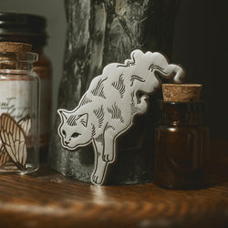 Ghost Cat Enamel Pin - Preorder