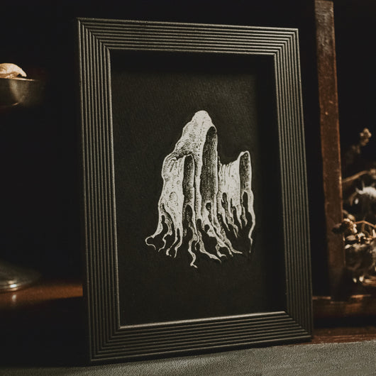 Ghostly Original Illustration - Framed
