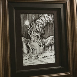Smoke Original Illustration - Framed