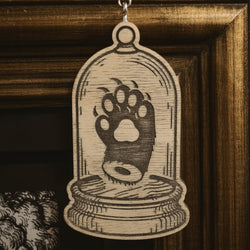 Paw in Bell Jar Yule Ornament