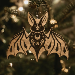 Night Creatures Yule Ornament - Bat