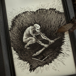 Night Creature Original Illustration - Framed