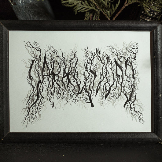 Dark Woods Original Illustration - Framed