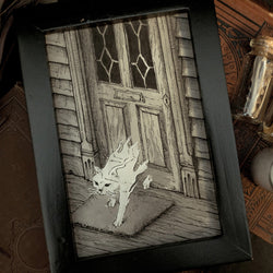 Animal Ghost Original Illustration - Framed