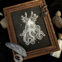 Oceanic Depths Original Illustration - Framed