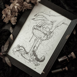 Witch Brew Original Illustration - Framed