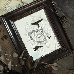 Smoke and Mirrors Original Illustration - Framed