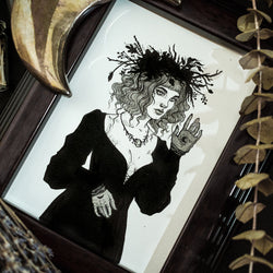 Head of the Coven Original Illustration - Framed