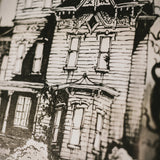 Haunted House Original Illustration - Framed